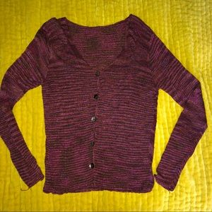 Sweaters - Vintage 90's Maroon Cardigan